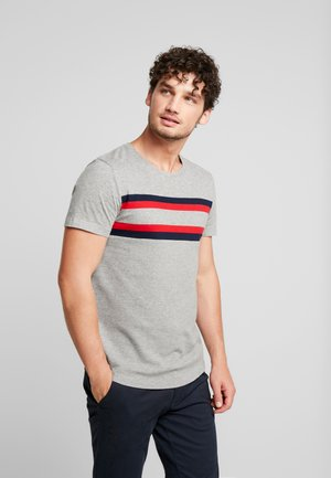 WITH STRIPEMIX - T-shirt print - middle grey mélange