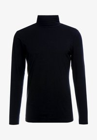 TOM TAILOR DENIM - LONGSLEEVE TURTLENECK  - Langarmshirt - black - 3