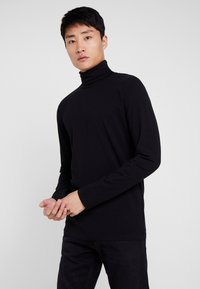 TOM TAILOR DENIM - LONGSLEEVE TURTLENECK  - Langarmshirt - black - 0