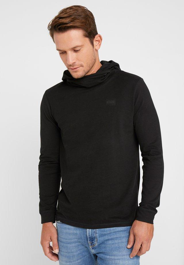 LONGSLEEVE HOODED  - Pitkähihainen paita - black