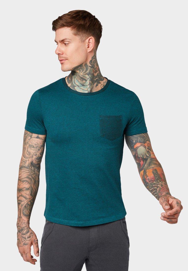 Tom Green Melange T shirt Denim Jade Tailor ImpriméDeep ZiXOTPku