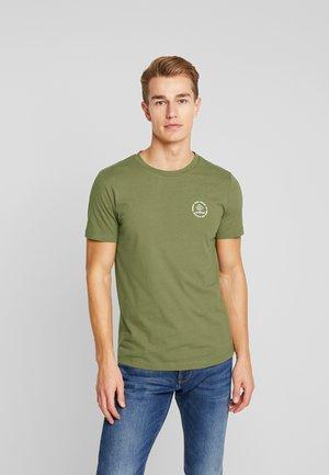 SMALL PRINT - T-shirt med print - faded moss green