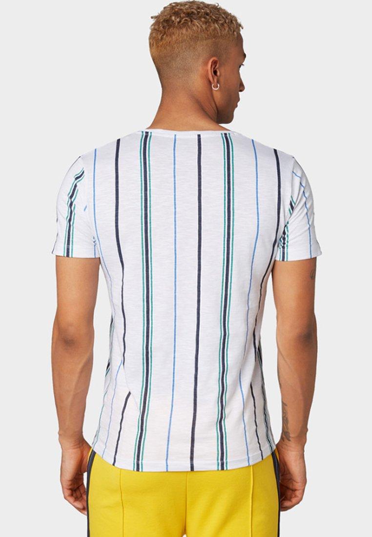 Mit stickereiT Denim Logo shirt White Tailor Tom Imprimé rQeBdxCoW