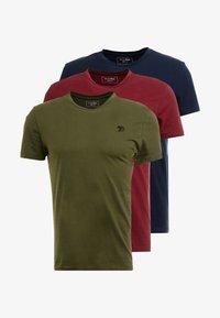 TOM TAILOR DENIM - PACKAGING 3 PACK - Basic T-shirt - sky captain blue - 3