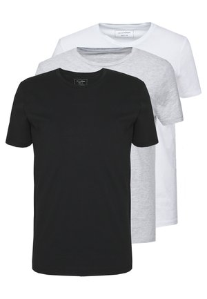 3 PACK - T-shirts basic - light stone/grey melange