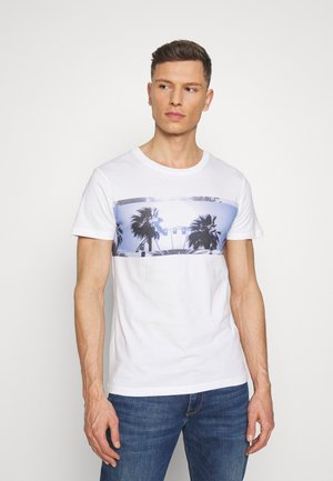 STRUCTURED FOTOPRINT - Print T-shirt - white