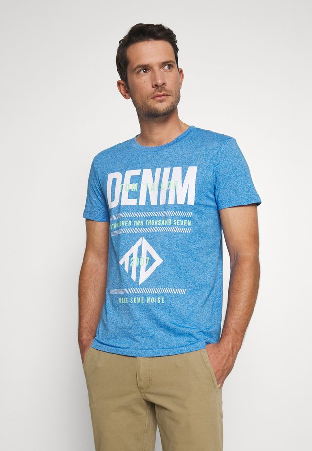 STRUCTURED WITH PRINT - T-shirts med print - water sport blue