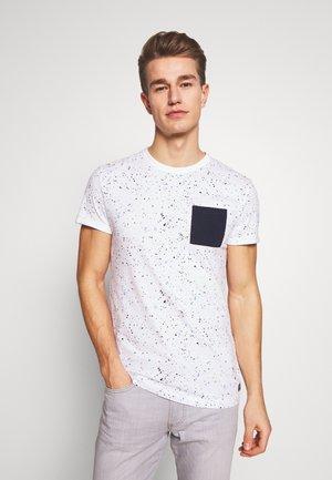 ALLOVERPRINTED - T-shirt print - white/blue navy