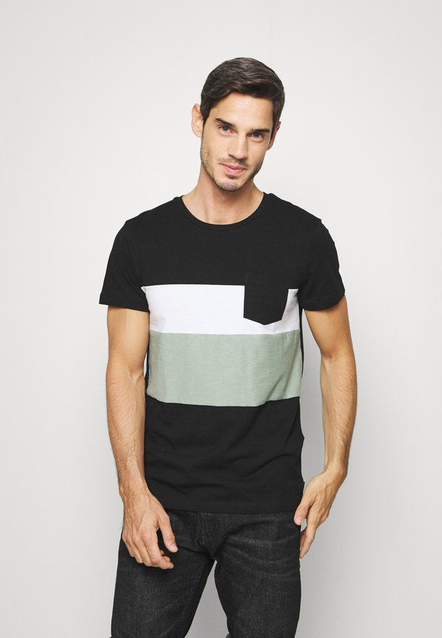 FABRICMIX - Print T-shirt - black