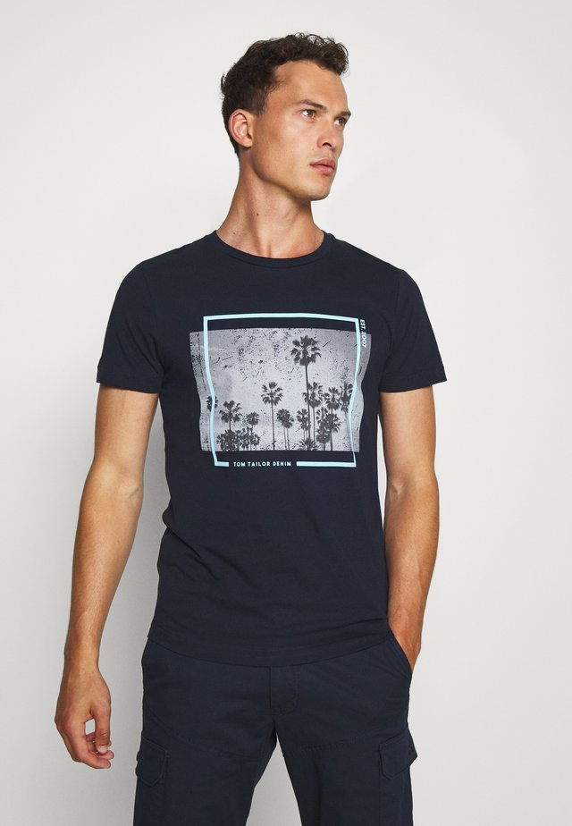 T-shirt imprimé - sky captain blue