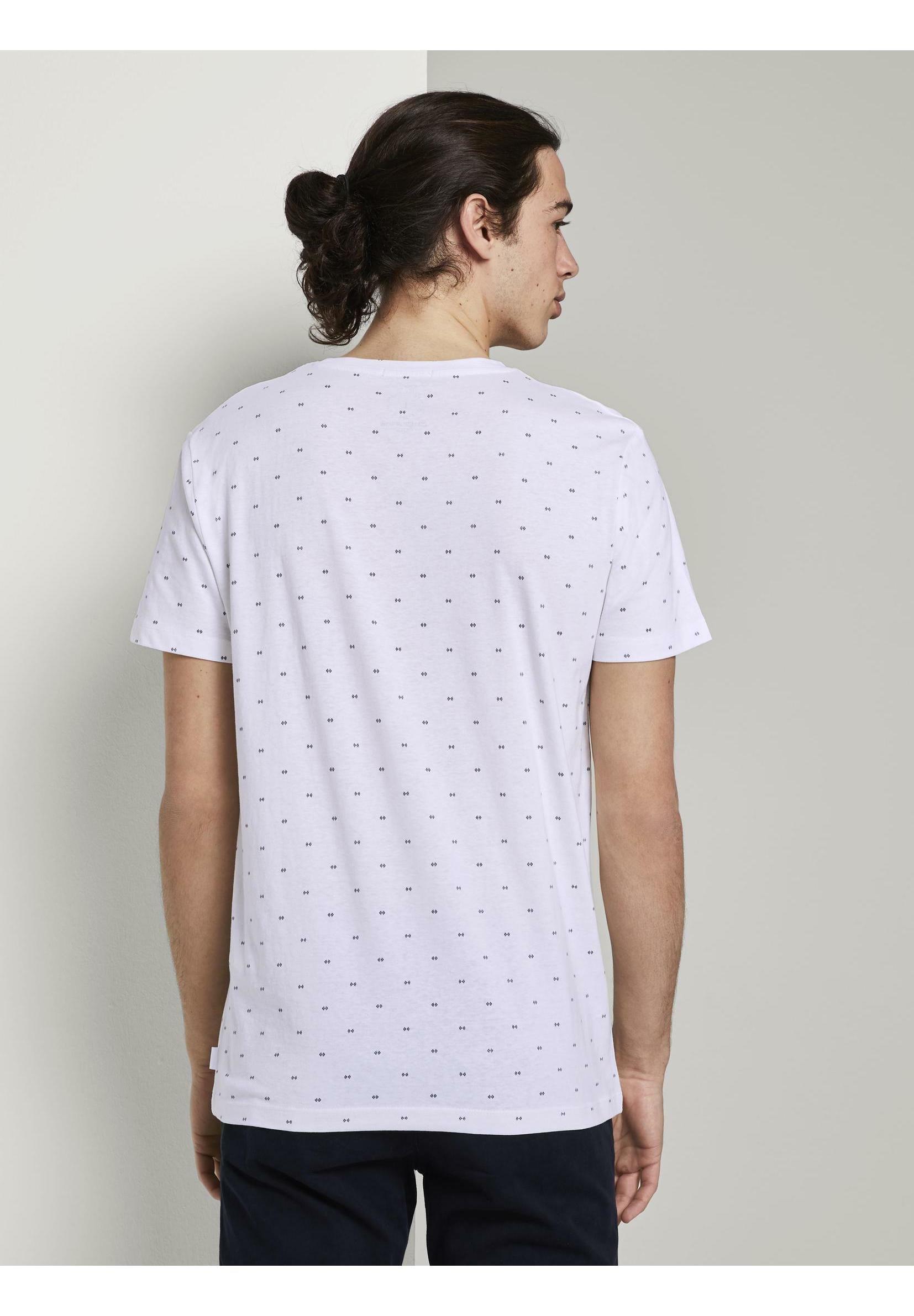 TOM TAILOR DENIM T-shirt z nadrukiem - white small element print - Odzież męska Tani