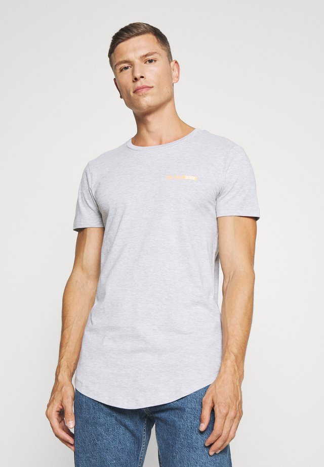 Basic T-shirt - light stone/grey melange