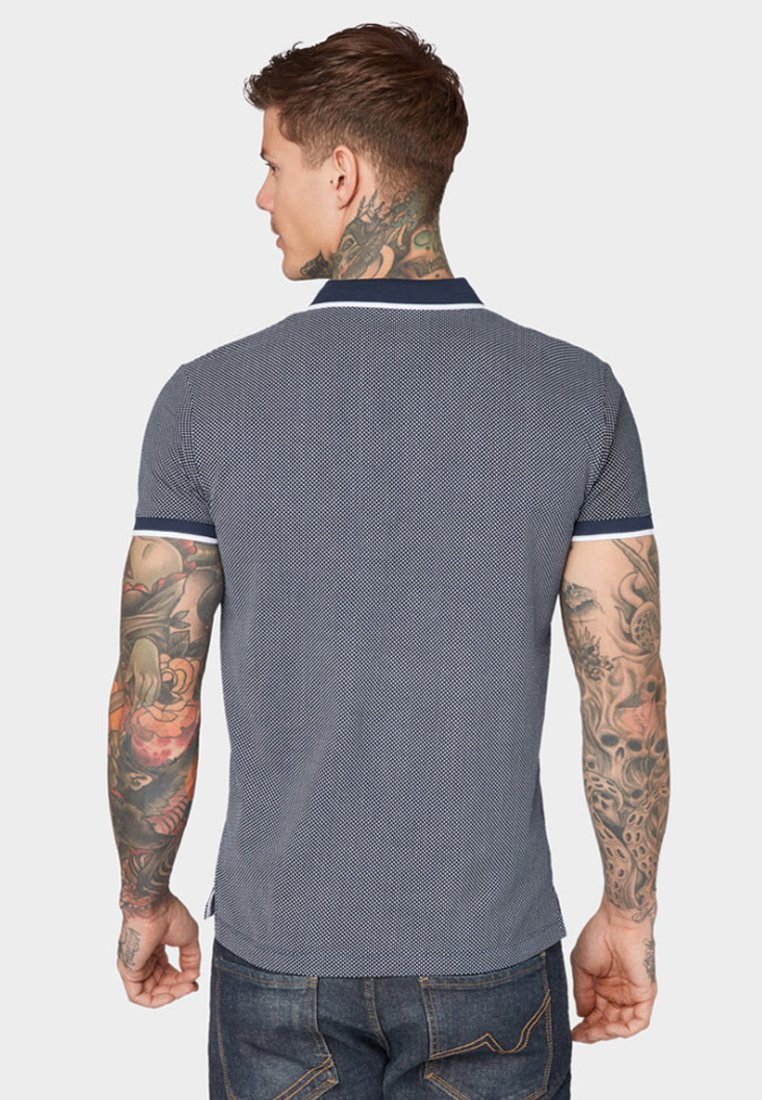 Mit Logo Blue Tom Tailor Denim stickereiPolo Dark zpqMUGSV