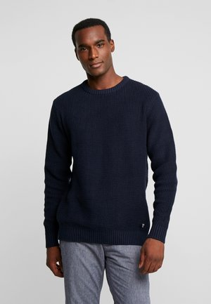 HEAVY STRUCTURED - Pullover - sky captain blue