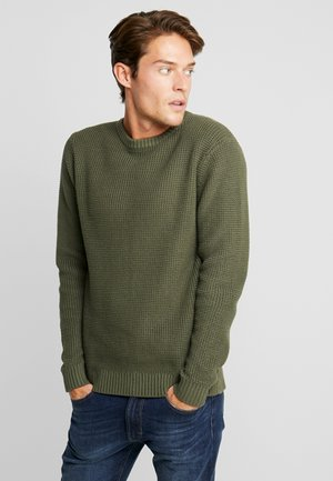 HEAVY STRUCTURED - Jumper - grape leaf green