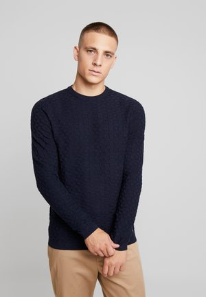 SOLID STRUCTURED - Trui - sky captain blue