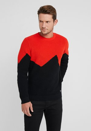 COLORBLOCK - Pullover - tango orange