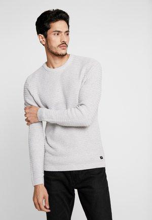 Pullover - light stone grey melange