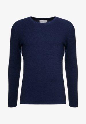 ZIGZAG STRUCTURED CREWNECK - Sweter - sky captain blue