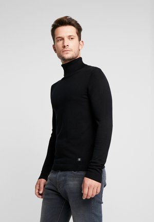 BASIC ROLLNECK - Strikkegenser - black