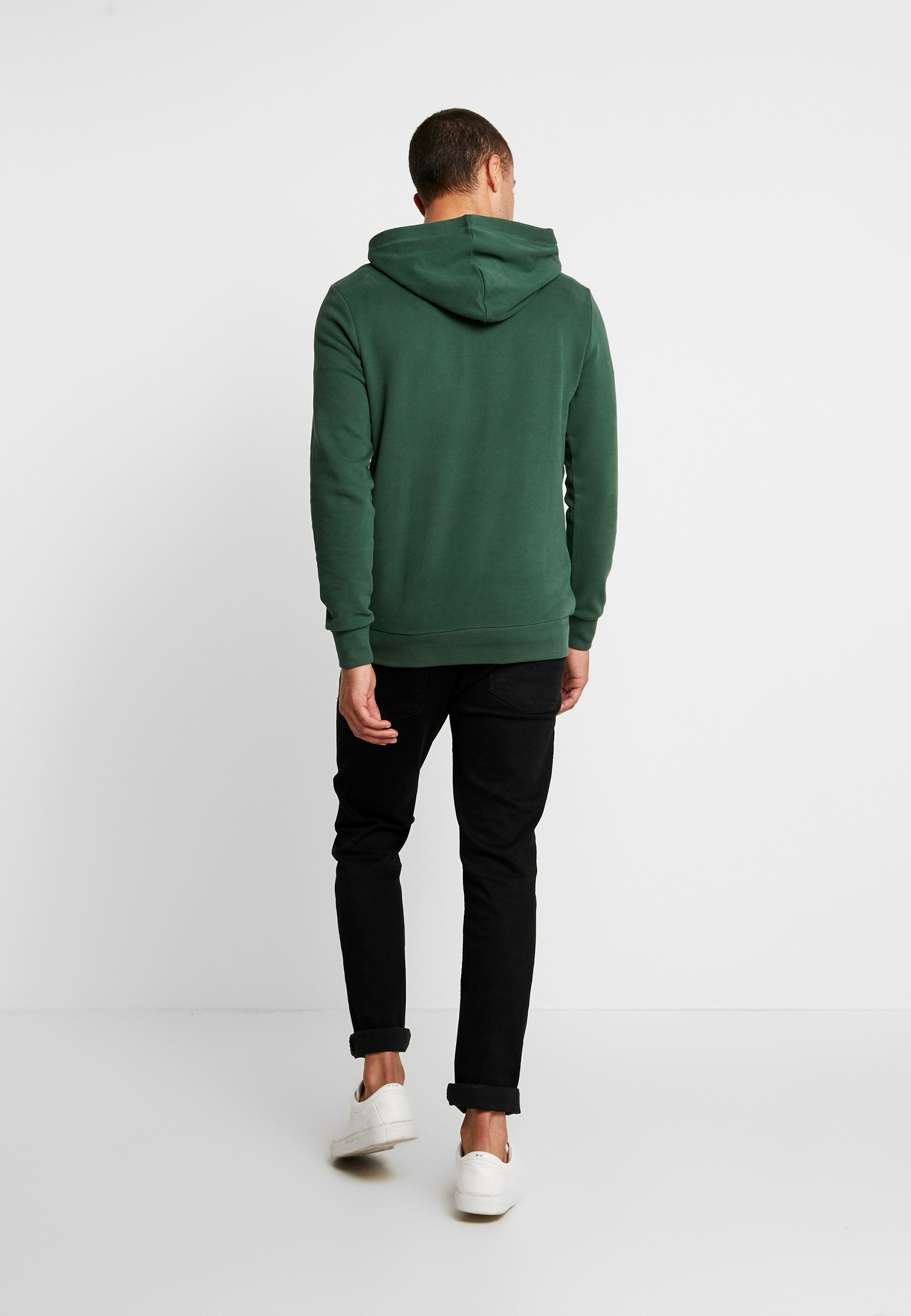 TOM TAILOR DENIM HOODY CHESTPRINT - Kapuzenpullover pineneedle green