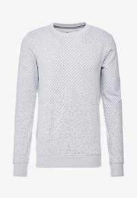 TOM TAILOR DENIM - MINIMAL CREWNECK - Sweatshirt - light stone grey melange - 4