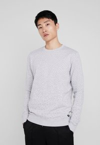 TOM TAILOR DENIM - MINIMAL CREWNECK - Sweatshirt - light stone grey melange - 0