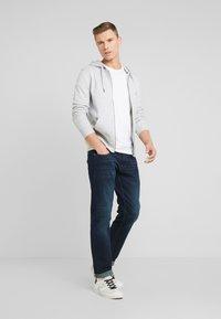 TOM TAILOR DENIM - HOODIE JACKET - Zip-up hoodie - light stone grey melange - 1