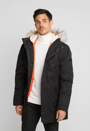 PEACHED WINTER PARKA - Parkas - black