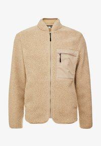 TOM TAILOR DENIM - TEDDYFUR JACKET - Korte jassen - sand/brown - 4