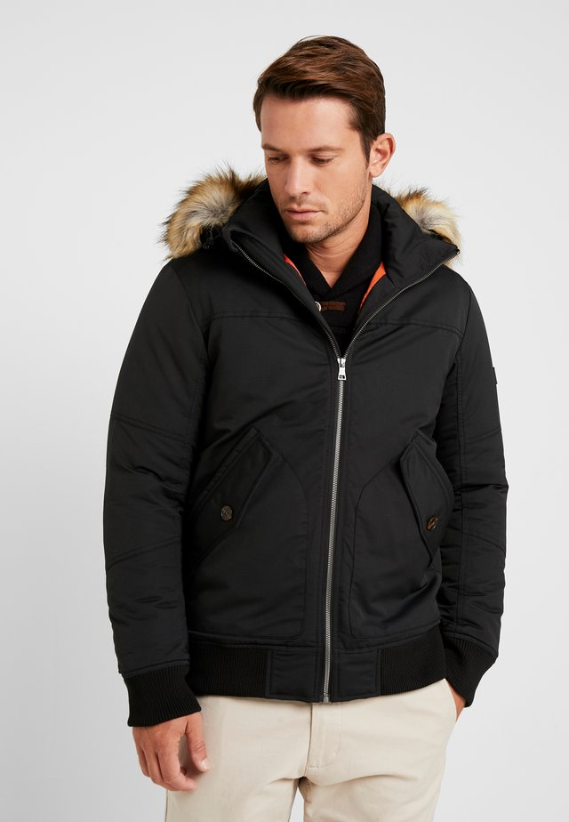 TRIMMED BOMBER - Winter jacket - black