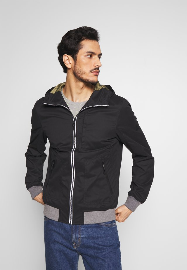 Summer jacket - black/grey