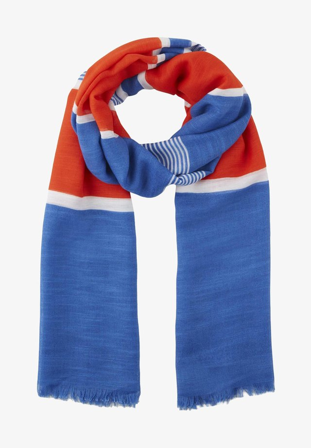 Sjaal - blue/red