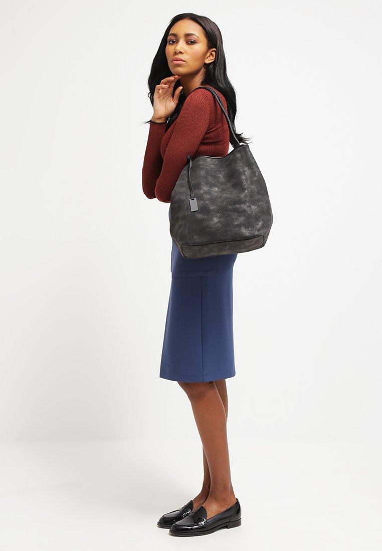 TOM TAILOR DENIM - MILA - Tote bag - black