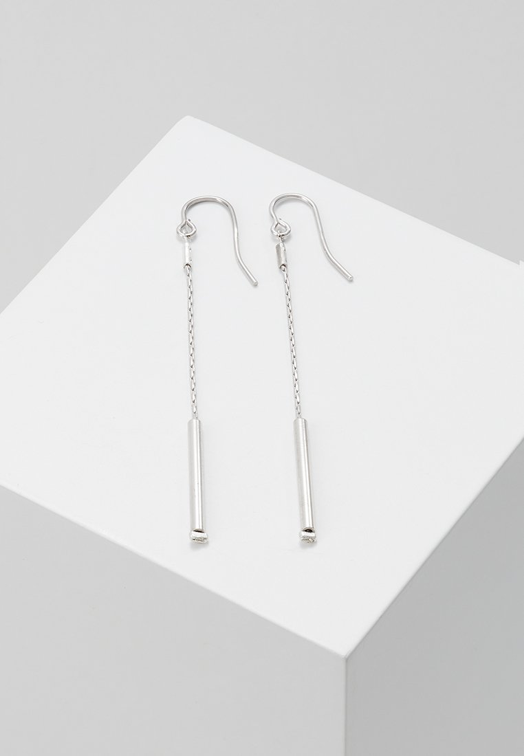 TomShot - EARRING LONG - Pendientes - silver-coloured