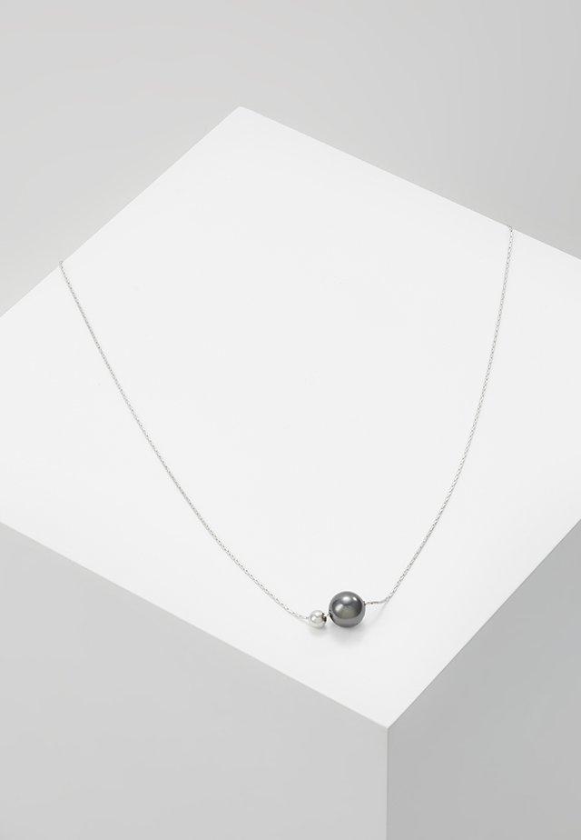 Halskette - silver-coloured/black