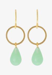 TomShot - EARRING TEARS - Pendientes - gold-coloured/jade - 3