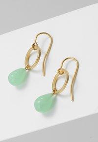 TomShot - EARRING TEARS - Pendientes - gold-coloured/jade - 2