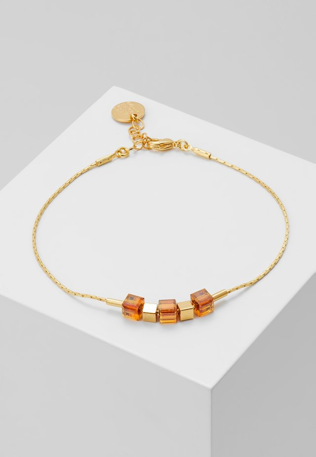 Armband - gold-coloured/brown