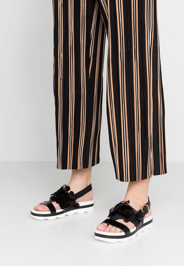 BIANCA - Platform sandals - nero