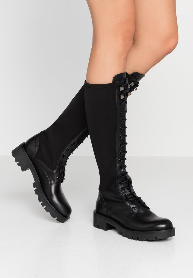 DIANE - Lace-up boots - nero