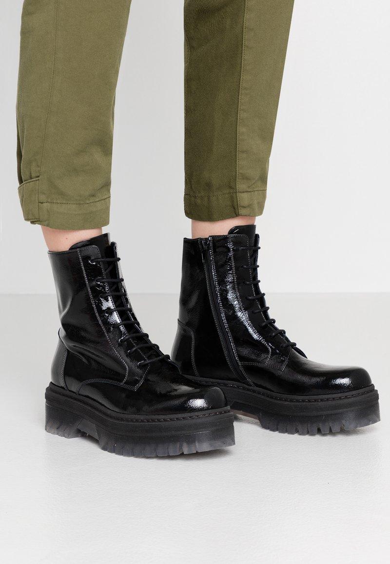 Tosca Blu - GEMMA - Platform ankle boots - anthrazit