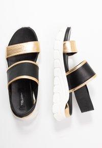 Tosca Blu - PONZA - Korkeakorkoiset sandaalit - nero/platino - 3
