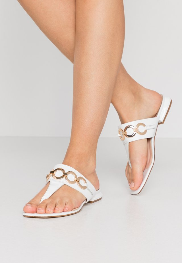 GRETA - T-bar sandals - bianco