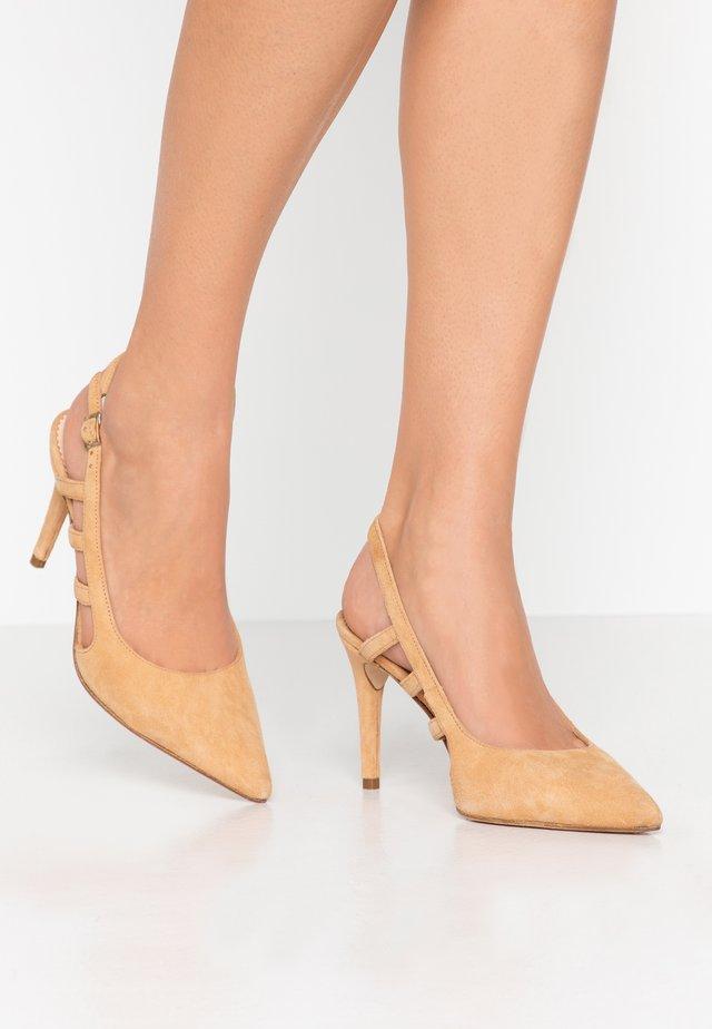 CORFU - High heels - cognac