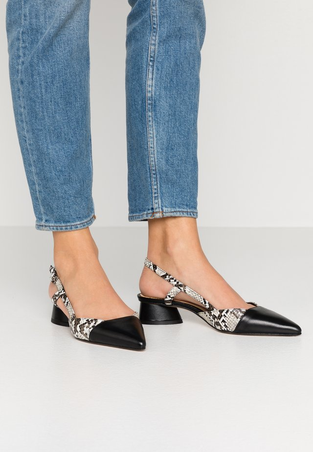 CAPRI - Classic heels - bianco/nero