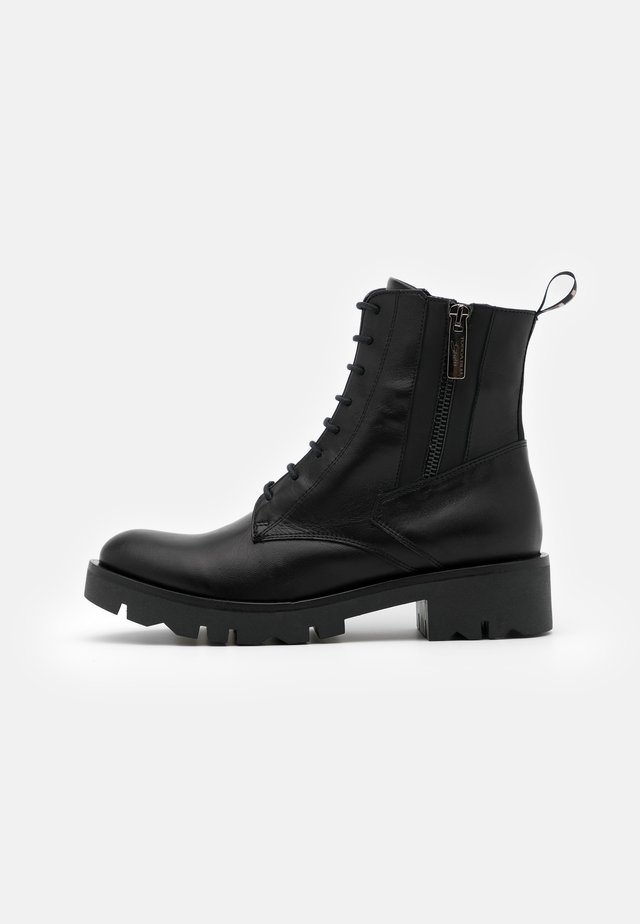LOREN - Lace-up ankle boots - nero