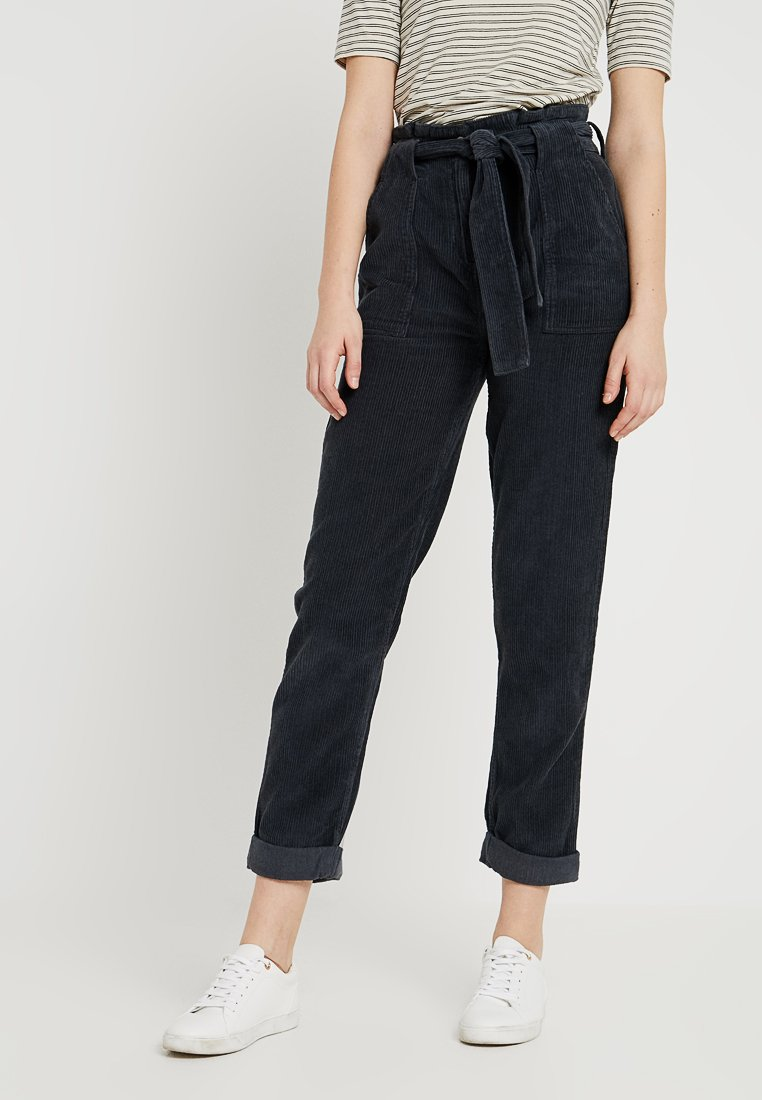 Topshop Tall - PAPERBAG - Kalhoty - dark blue