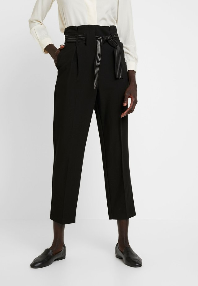 TERRI STITCH BELT - Broek - black