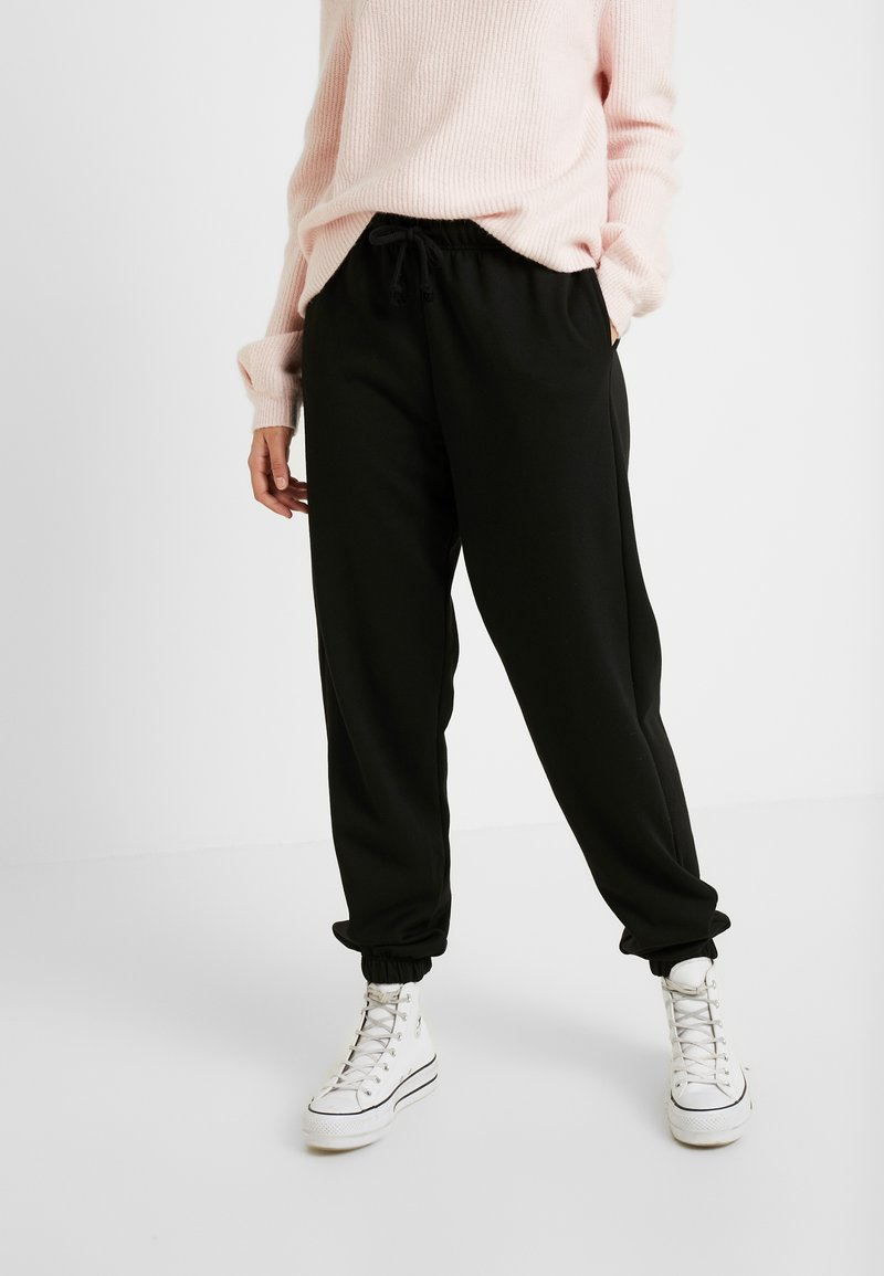 Topshop Tall - SOFT - Tracksuit bottoms - black